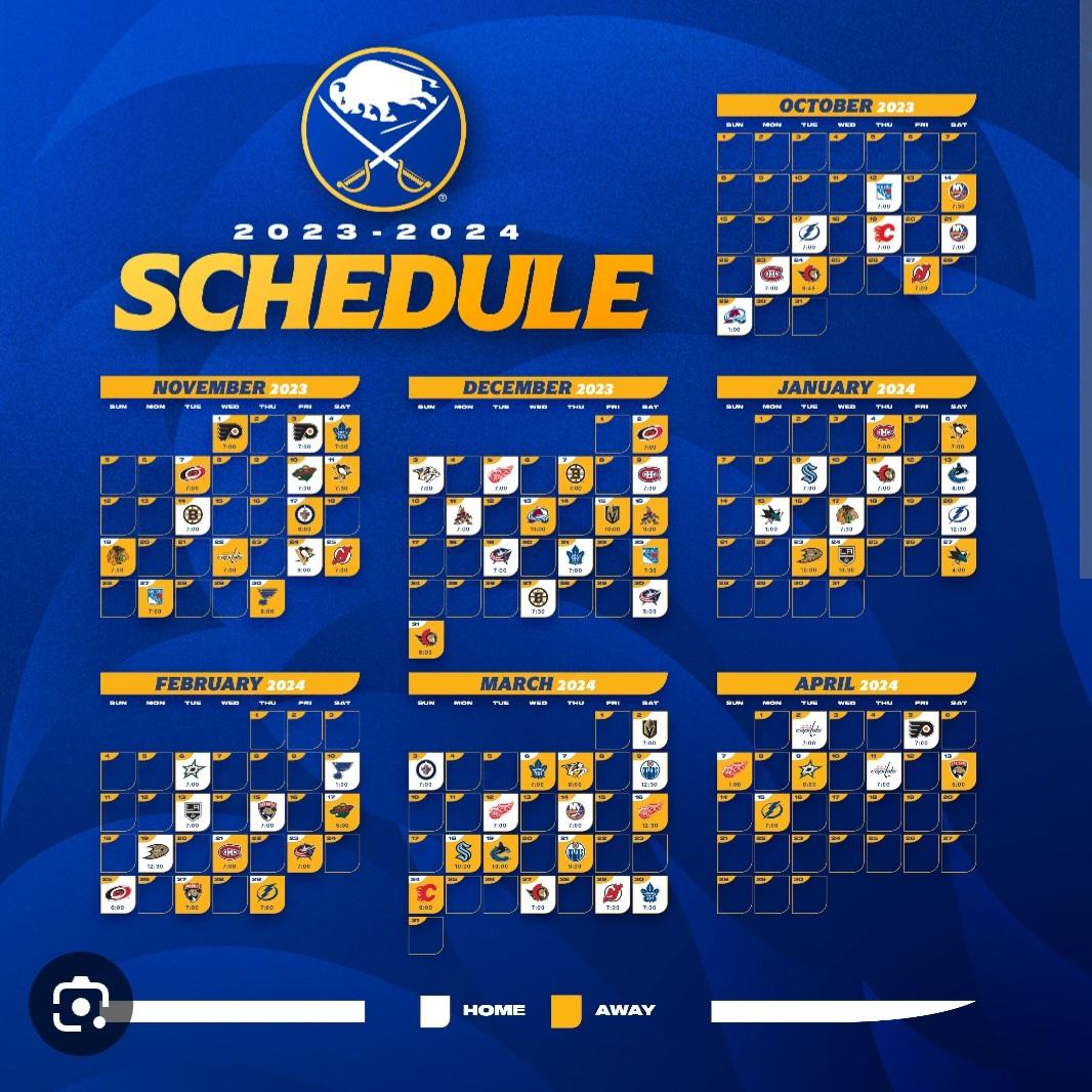 Buffalo Sabres Schedule 2019-20 Buffalo Sabres Schedule